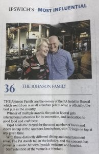 Ipswich's Pa Hotel & Pub The Best In Ipswich With Winner Of Best Restaurant For Plantations And Most Number Of Craft Beers On Tap For Tap'd Bar